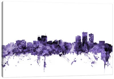 Anchorage, Alaska Skyline Canvas Art Print