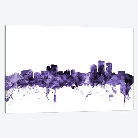 Anchorage, Alaska Skyline Canvas Print #MTO535} by Michael Tompsett Canvas Wall Art