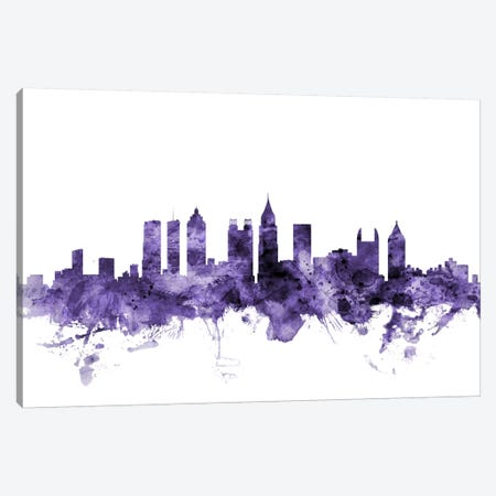 Atlanta, Georgia Skyline Canvas Print #MTO537} by Michael Tompsett Canvas Artwork