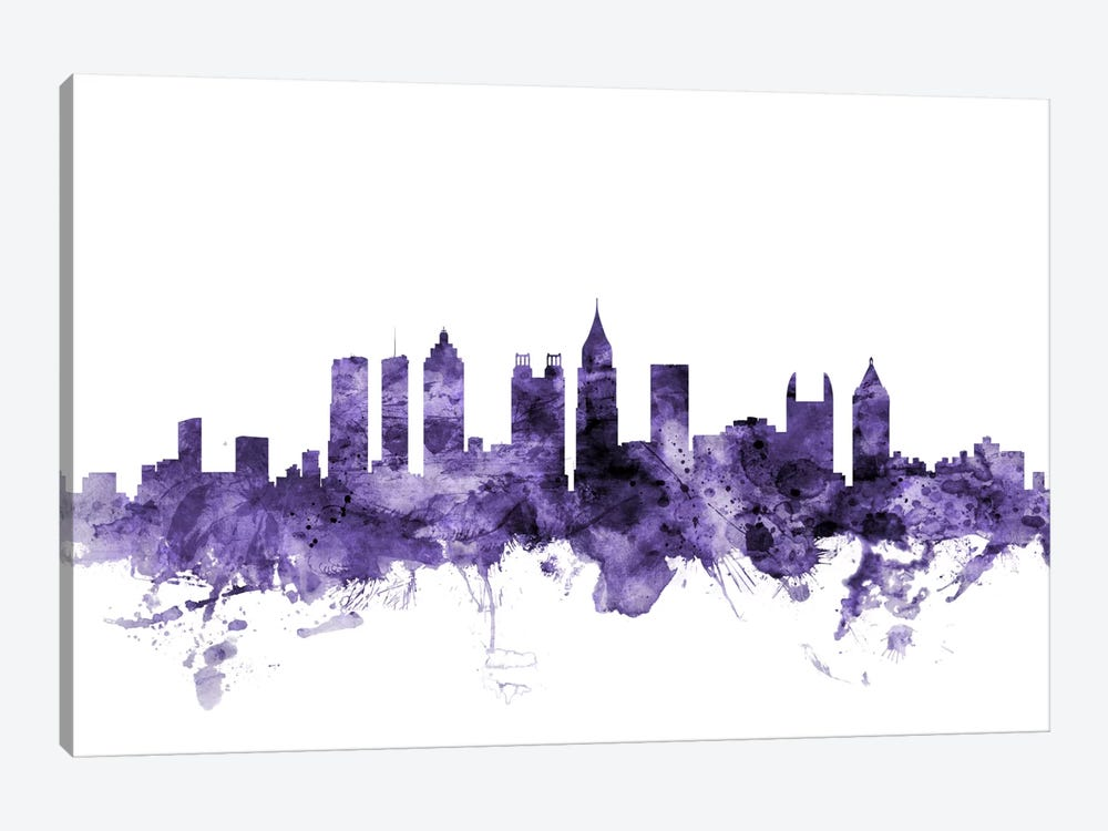 Atlanta, Georgia Skyline by Michael Tompsett 1-piece Art Print