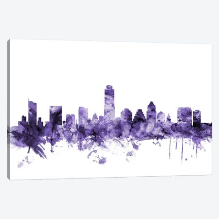 Austin, Texas Skyline Canvas Print #MTO539} by Michael Tompsett Canvas Print