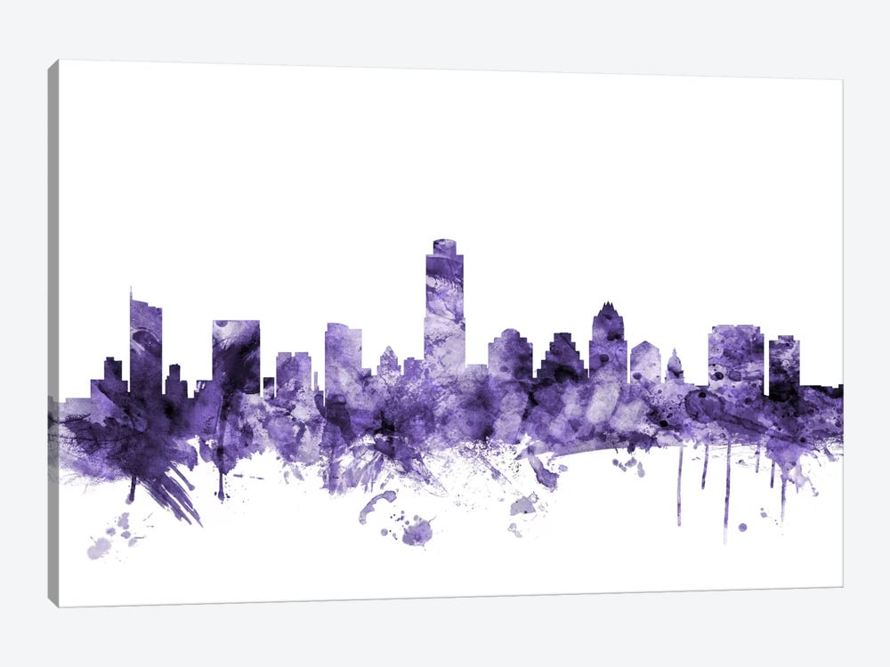 Austin, Texas Skyline by Michael Tompsett 1-piece Canvas Art Print