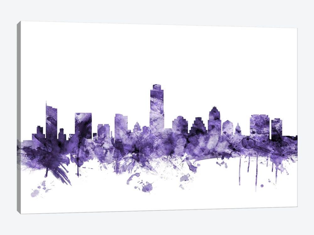 Austin, Texas Skyline by Michael Tompsett 1-piece Canvas Art Print