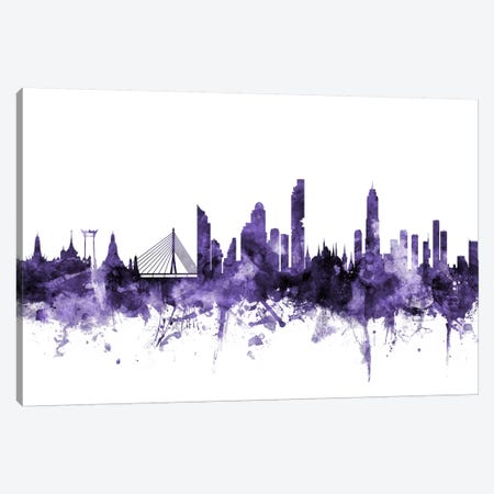 Bangkok, Thailand Skyline Canvas Print #MTO541} by Michael Tompsett Canvas Artwork