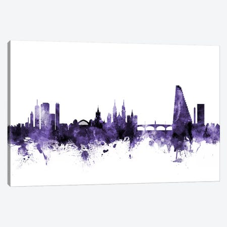Basel, Switzerland Skyline Canvas Print #MTO543} by Michael Tompsett Canvas Wall Art