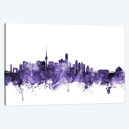 Beijing, China Skyline 3-Piece Canvas #MTO545} by Michael Tompsett Canvas Print