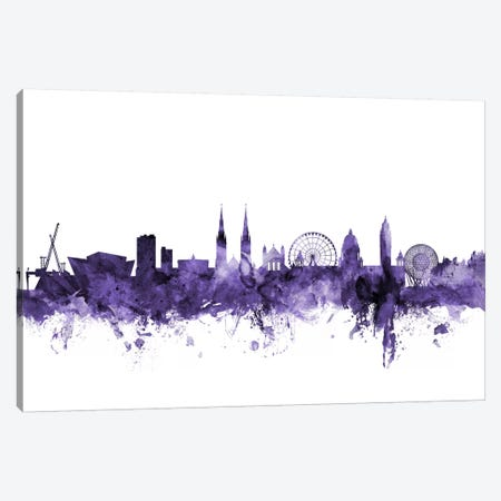Belfast, Northern Ireland Skyline Canvas Print #MTO546} by Michael Tompsett Canvas Art Print