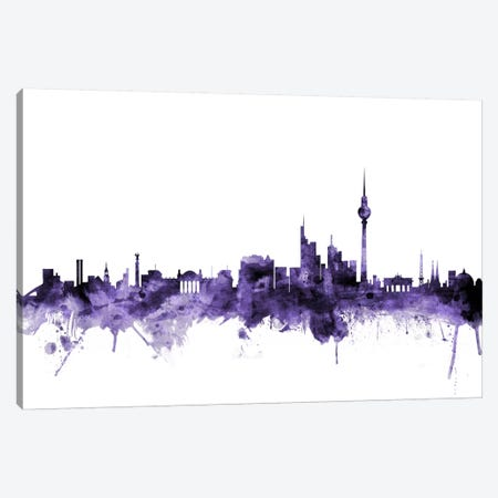 Berlin, Germany Skyline Canvas Print #MTO547} by Michael Tompsett Canvas Art Print