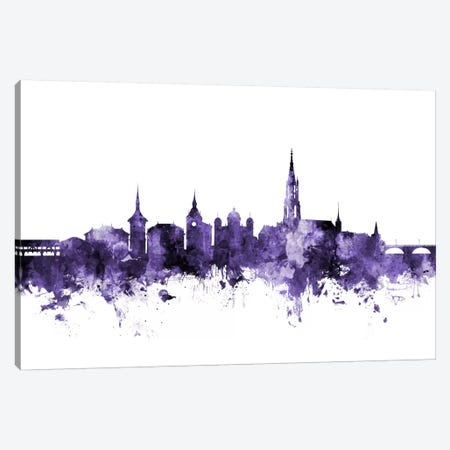 Bern, Switzerland Skyline Canvas Print #MTO548} by Michael Tompsett Canvas Artwork