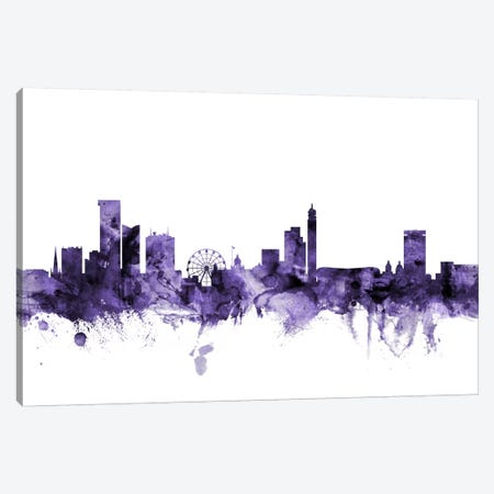 Birmingham, England Skyline Canvas Print #MTO549} by Michael Tompsett Canvas Art