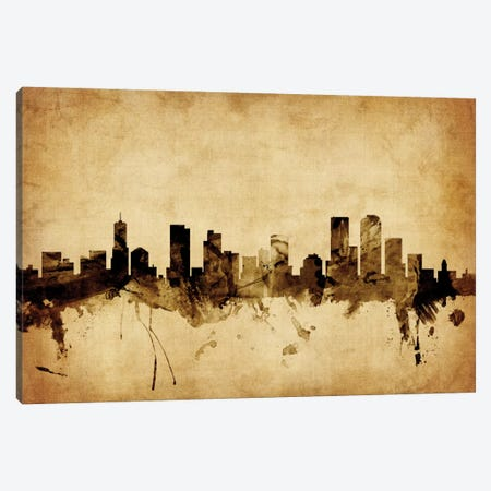 Denver, Colorado, USA Canvas Print #MTO54} by Michael Tompsett Art Print