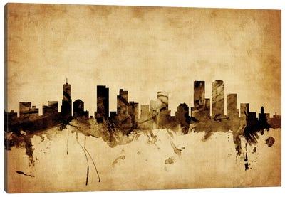 Foxed (Retro) Skyline Series: Denver, Colorado, USA Canvas Print #MTO54