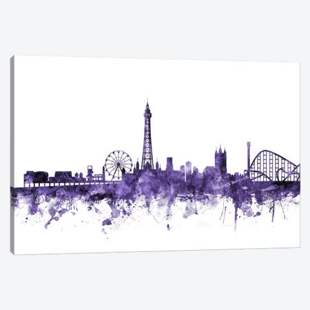 Blackpool, England Skyline Canvas Print #MTO550} by Michael Tompsett Art Print