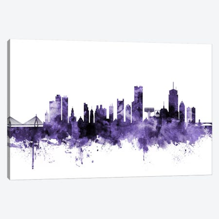 Boston, Massachusetts Skyline I Canvas Print #MTO551} by Michael Tompsett Canvas Print
