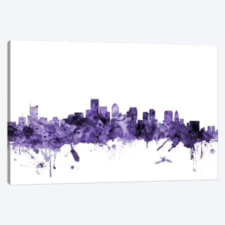 Boston, Massachusetts Skyline II Canvas Print #MTO552} by Michael Tompsett Canvas Print