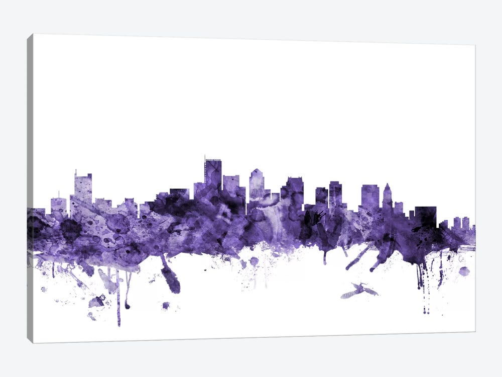 Boston, Massachusetts Skyline II by Michael Tompsett 1-piece Canvas Wall Art