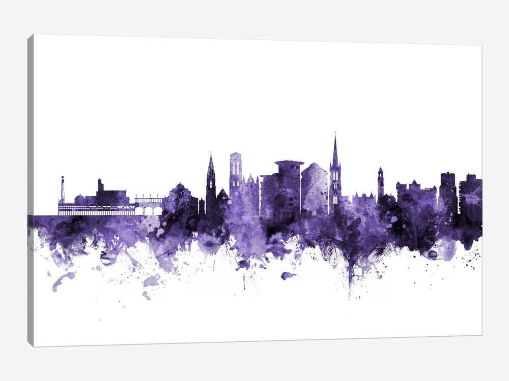 Bournemouth, England Skyline by Michael Tompsett 1-piece Canvas Print