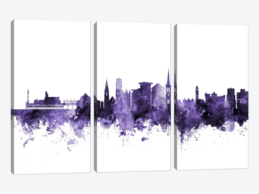 Bournemouth, England Skyline by Michael Tompsett 3-piece Canvas Art Print