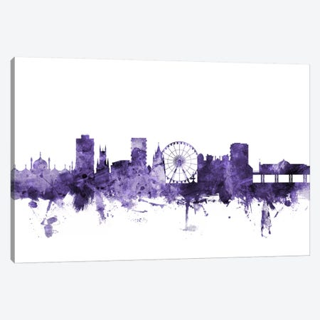 Brighton, England Skyline Canvas Print #MTO555} by Michael Tompsett Canvas Art
