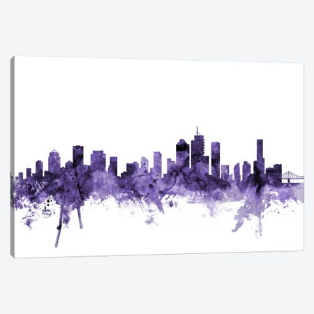 Brisbane, Australia Skyline Canvas Print #MTO556} by Michael Tompsett Canvas Wall Art
