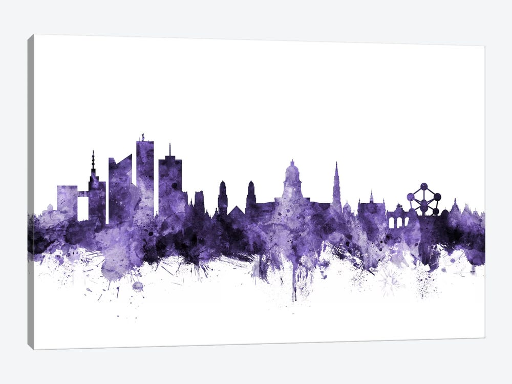 Brussels, Belgium Skyline by Michael Tompsett 1-piece Canvas Art
