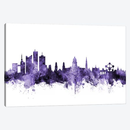 Brussels, Belgium Skyline Canvas Print #MTO558} by Michael Tompsett Canvas Art Print