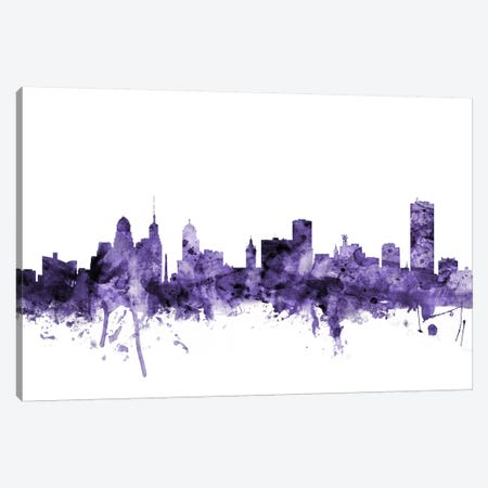 Buffalo, New York Skyline Canvas Print #MTO559} by Michael Tompsett Art Print
