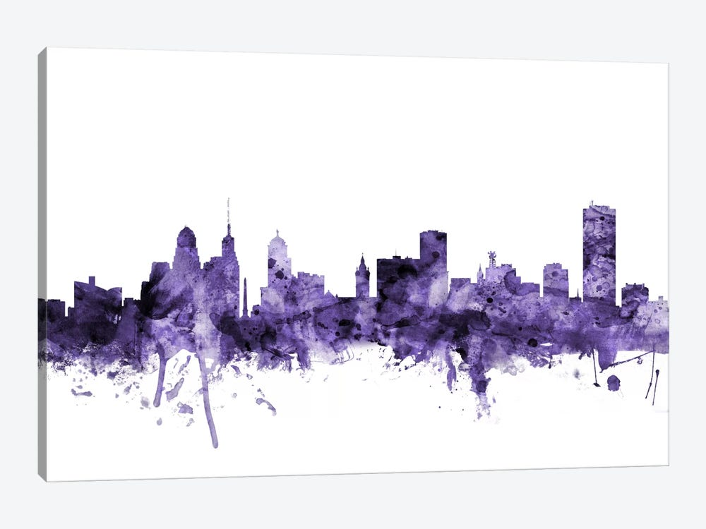 Buffalo, New York Skyline by Michael Tompsett 1-piece Art Print