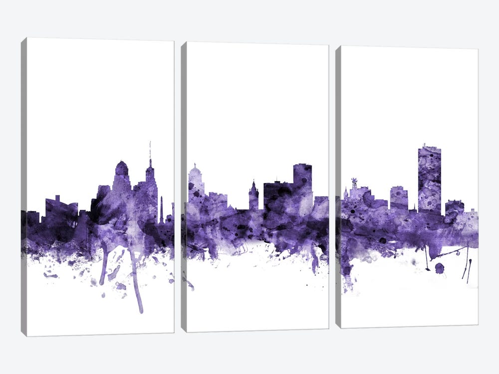 Buffalo, New York Skyline by Michael Tompsett 3-piece Art Print