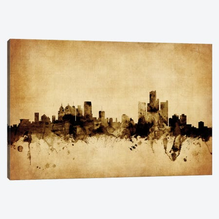 Detroit, Michigan, USA Canvas Print #MTO55} by Michael Tompsett Canvas Print