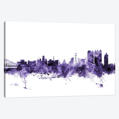 Calcutta (Kolkata), India Skyline Canvas Print #MTO560} by Michael Tompsett Canvas Wall Art