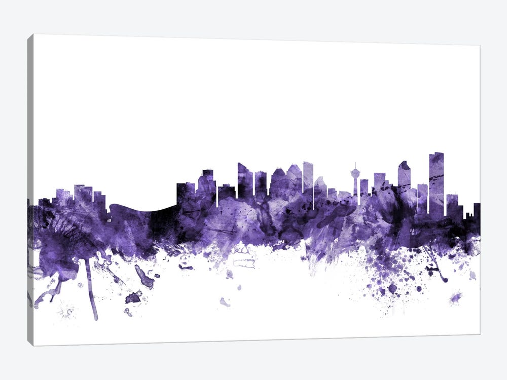 Calgary, Canada Skyline by Michael Tompsett 1-piece Canvas Artwork
