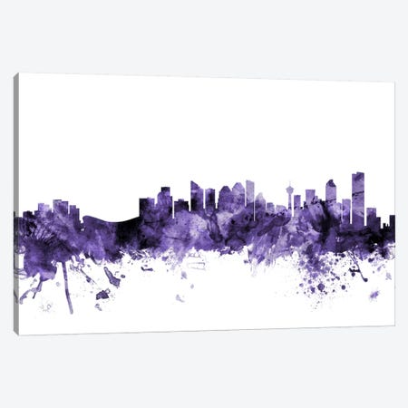 Calgary, Canada Skyline Canvas Print #MTO561} by Michael Tompsett Canvas Wall Art