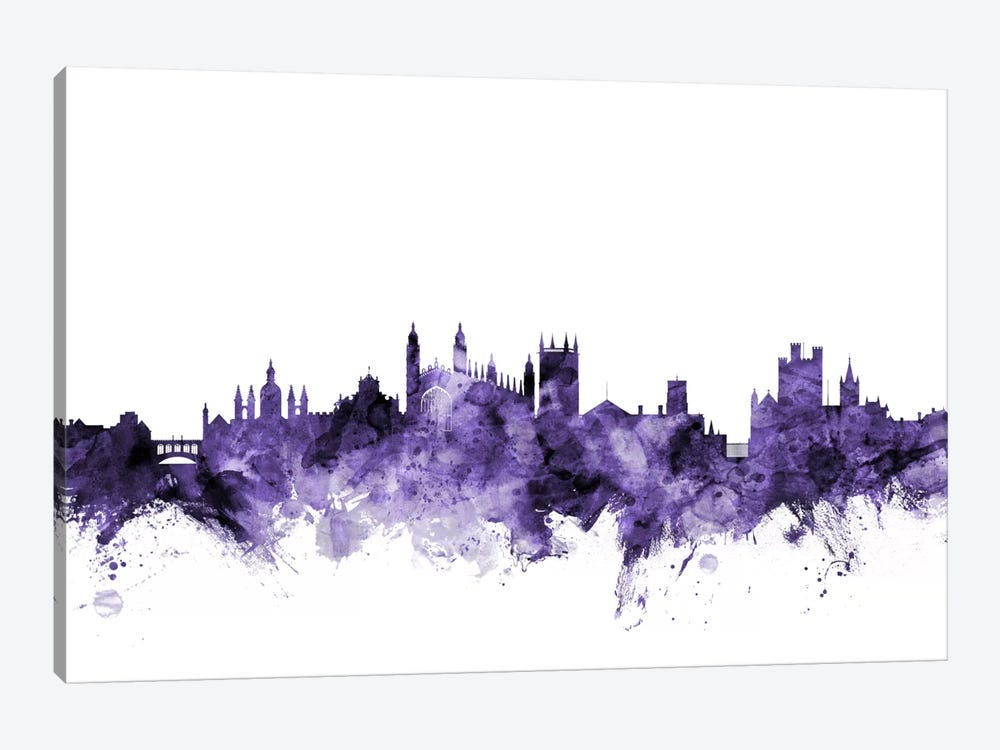 Cambridge, England Skyline by Michael Tompsett 1-piece Canvas Print