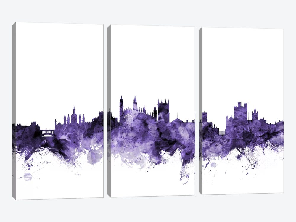 Cambridge, England Skyline by Michael Tompsett 3-piece Canvas Art Print