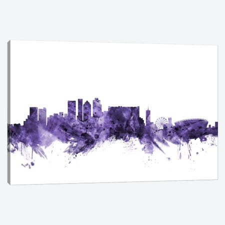 Cape Town, South Africa Skyline Canvas Print #MTO564} by Michael Tompsett Art Print