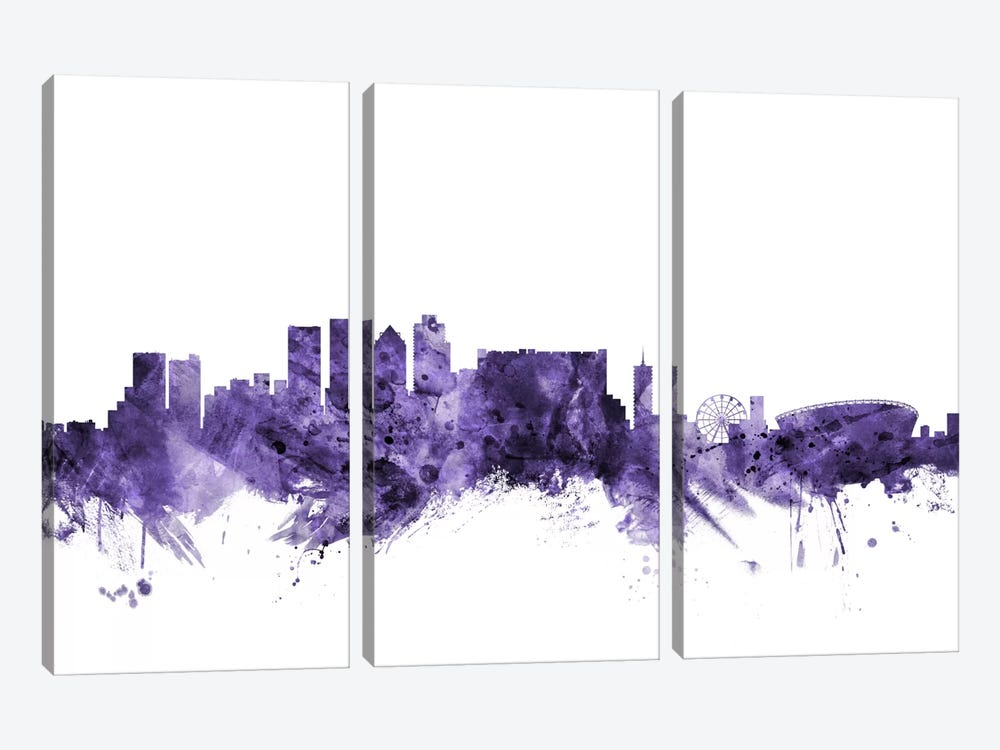 Cape Town, South Africa Skyline by Michael Tompsett 3-piece Canvas Art Print