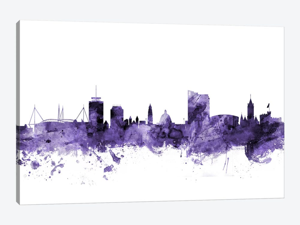 Cardiff, Wales Skyline by Michael Tompsett 1-piece Canvas Artwork