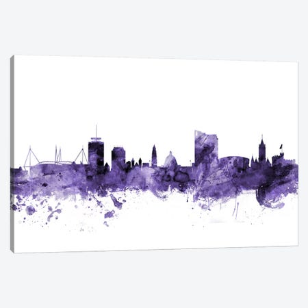 Cardiff, Wales Skyline Canvas Print #MTO565} by Michael Tompsett Canvas Print