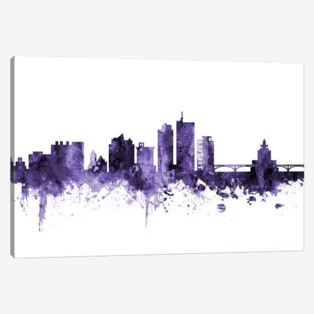 Cedar Rapids, Iowa Skyline Canvas Print #MTO566} by Michael Tompsett Canvas Print