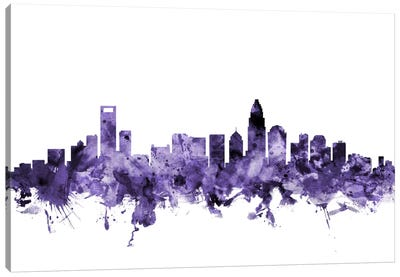 Charlotte, North Carolina Skyline Canvas Art Print
