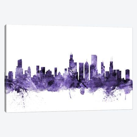 Chicago, Illinois Skyline Canvas Print #MTO568} by Michael Tompsett Canvas Artwork