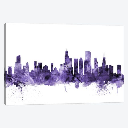 Chicago, Illinois Skyline Canvas Print #MTO568} by Michael Tompsett Canvas Artwork