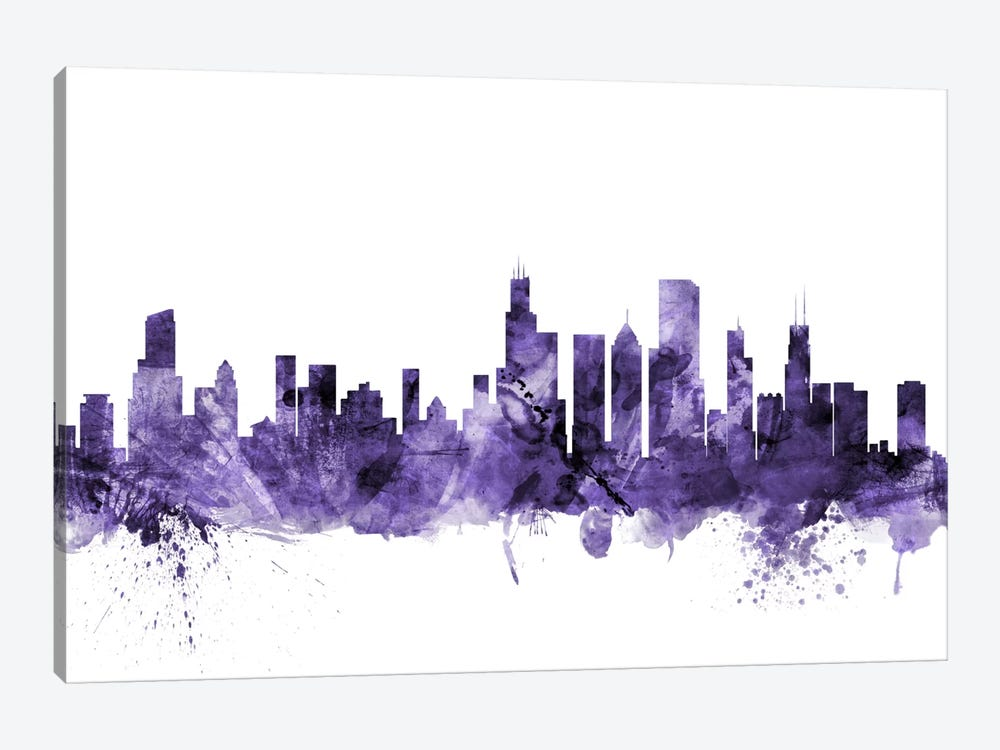 Chicago, Illinois Skyline by Michael Tompsett 1-piece Canvas Print