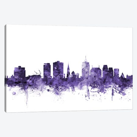 Christchurch, New Zealand Skyline Canvas Print #MTO569} by Michael Tompsett Canvas Art