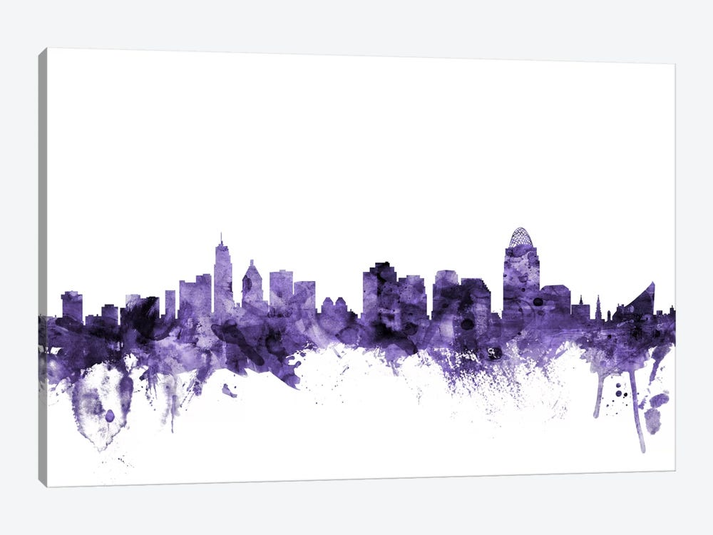 Cincinnati, Ohio Skyline by Michael Tompsett 1-piece Canvas Artwork