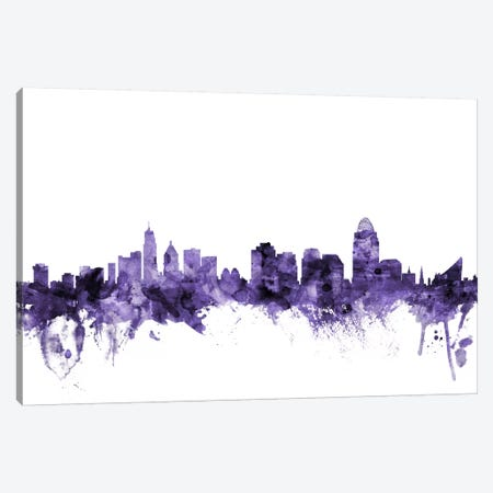 Cincinnati, Ohio Skyline Canvas Print #MTO570} by Michael Tompsett Art Print
