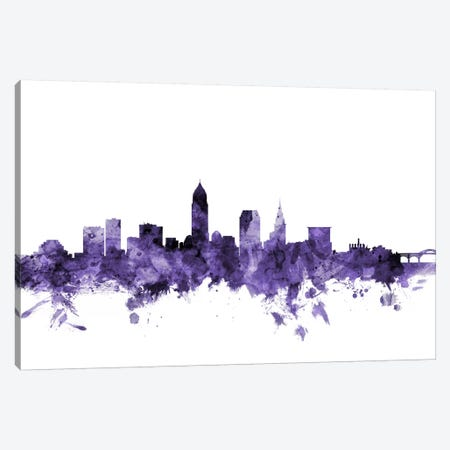 Cleveland, Ohio Skyline Canvas Print #MTO571} by Michael Tompsett Canvas Print