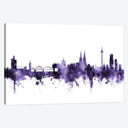 Cologne, Germany Skyline Canvas Print #MTO572} by Michael Tompsett Canvas Print