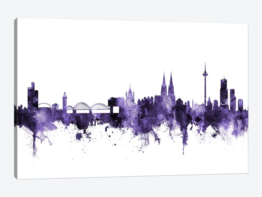 Cologne, Germany Skyline by Michael Tompsett 1-piece Canvas Wall Art